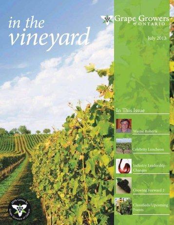 GGO July 2013 Newsletter v3.indd - Grape Growers of Ontario