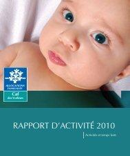 RAPPORT D'ACTIVITÉ 2010 - Caf.fr