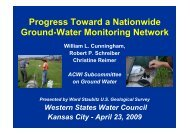 National Ground Water Monitoring Network - Western Governors ...