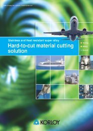 Hard-to-cut material cutting solution - korloy