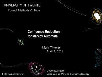 Confluence Reduction for Markov Automata - Server