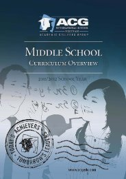 ACG Middle School Handbook - The Academic Colleges Group