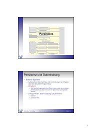 Persistenz Persistenz und Datenhaltung - Telematik TH Wildau