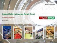 March 2013 - Lippo Malls Indonesia Retail Trust - Investor Relations
