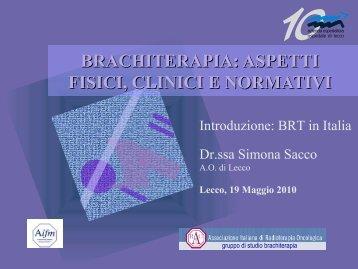 La brachiterapia in Italia - Sacco
