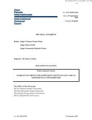 Warrant of Arrest for Joseph Kony issued on 8 July 2005 as ... - ICC