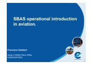 SBAS operational introduction in aviation.