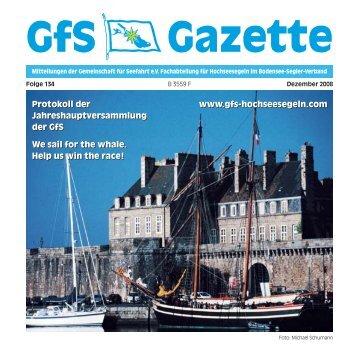 134 Gazette - Hochseesegeln mit der GfS