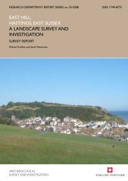 east hill, hastings, east sussex a landscape ... - English Heritage