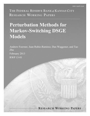 Perturbation Methods for Markov-Switching DSGE Models - Federal ...