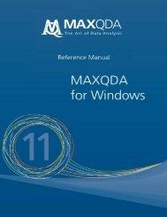 MAXQDA 11 Manual
