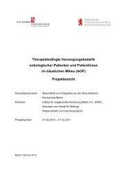 (AOP) Projektbericht - Alice Salomon Hochschule Berlin