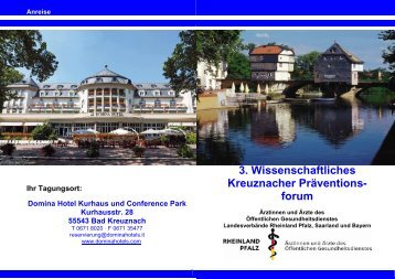3. Wissenschaftliches Kreuznacher Präventions- forum - Bad Kreuznach