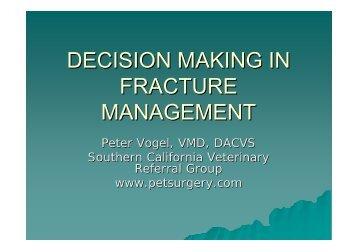 decision making in fracture management - VeterinariosenWeb