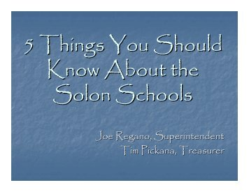 5 Things You Should Know About the Solon Schools - Solon City ...