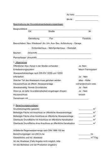 Grundstücksentwässerungsanlagen - Abwasserverband Fulda