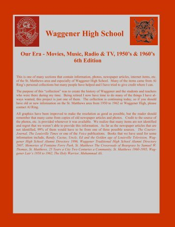 Our Era - Movies, Music, Radio and TV, 6th Edition