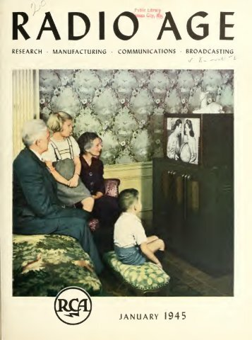 Radio Age - 1945, January - 36 Pages, 3.2 MB ... - VacuumTubeEra