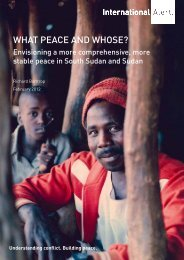 What peace and Whose? - Internal Displacement Monitoring Centre