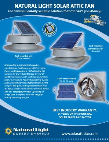 NATURAL LIGHT SOLAR ATTIC FAN - Hi-Tech Plumbing Corp.