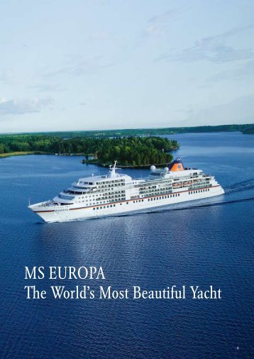 MS EUROPA The World's Most Beautiful Yacht - Ask Mr. Cruise