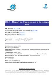 D5.1 - Report on incentives at a European level - Fokker Services