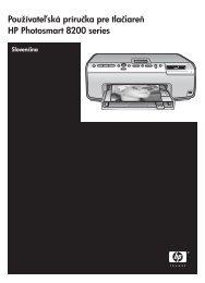 Používateľská príručka pre tlačiareň HP ... - Hewlett-Packard