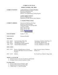 CURRICULUM VITAE ROHIT LOOMBA, MD, MHSc - University of ...
