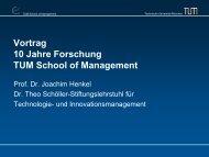 Vortrag 10 Jahre Forschung TUM School of Management - Dr. Theo ...