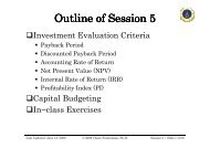Outline of Session Outline of Session 5