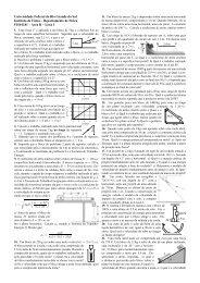 Lista 1 - Instituto de Física - UFRGS