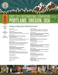 2011 Annual Convention - Society of Wood Science and Technology