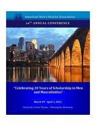 """""""Celebrating 20 Years of Scholarship in Men and Masculinities"""""""