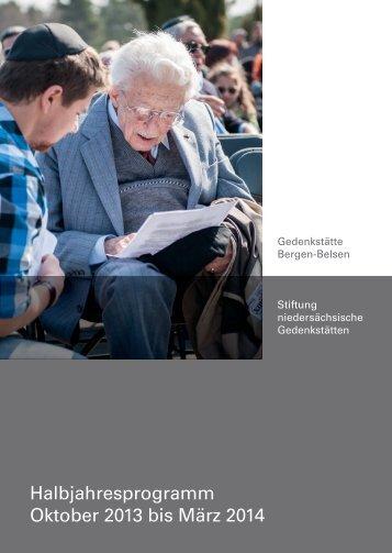 Halbjahresprogramm Oktober 2013 bis März 2014 - Gedenkstätte ...
