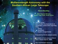 11.00 David BUCKLEY Multifrequency Astronomy with the Southern ...