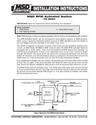 MSD RPM Activated Switch - MPS Racing
