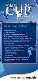 Tasman Room Luncheon