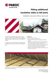 Fitting additional insulation slabs to loft joists - Paroc.com