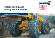 Installation manual pewag traction chains