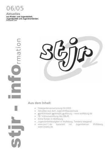 stjr – info - STADTJUGENDRING WOLFSBURG EV
