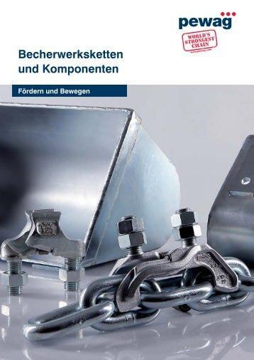 Becherwerksketten und Komponenten - Pewag