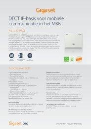 DECT IP-basis voor mobiele communicatie in het MKB.