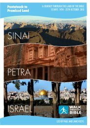Oct 2013 Israel now SOLD OUT Itinerary - Walk Through the Bible