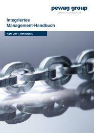 Integriertes Management-Handbuch - pewag group