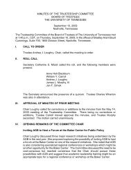 Trusteeship Committee Meeting - Board of Trustees - The University ...