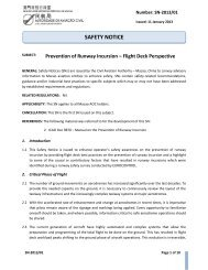 Prevention of Runway Incursion – Flight Deck Perspective