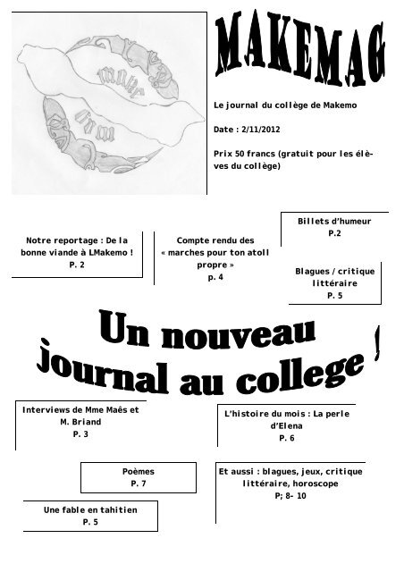 Makemag n°1 - Direction des Enseignements Secondaires