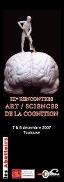 ART / SCIENCES DE LA COGNITION - Mission d'animation des ...