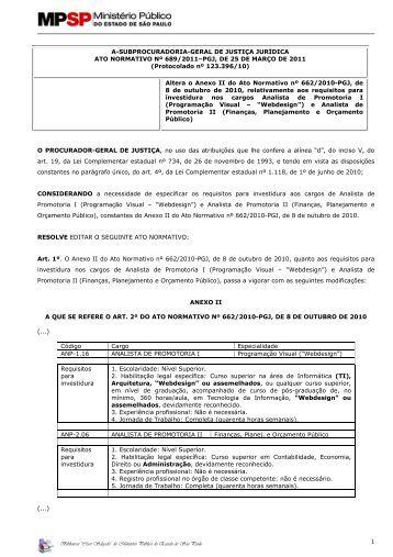 Ato Normativo nº 689