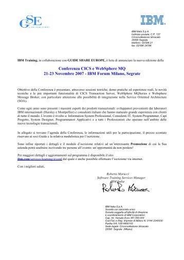 sull'invito allegato - Guide Share Italia